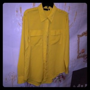 👚APT 9 YELLOW DRESS BLOUSE 👚